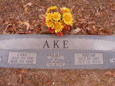 AKE, NAOMI - Columbia County, Arkansas | NAOMI AKE - Arkansas Gravestone Photos