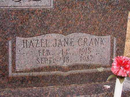 CRANK ALDRIDGE, HAZEL JANE - Columbia County, Arkansas | HAZEL JANE CRANK ALDRIDGE - Arkansas Gravestone Photos