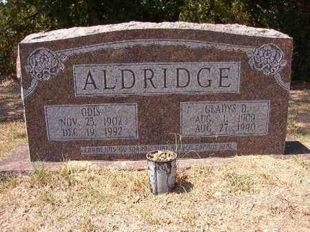 ALDRIDGE, GLADYS D - Columbia County, Arkansas | GLADYS D ALDRIDGE - Arkansas Gravestone Photos