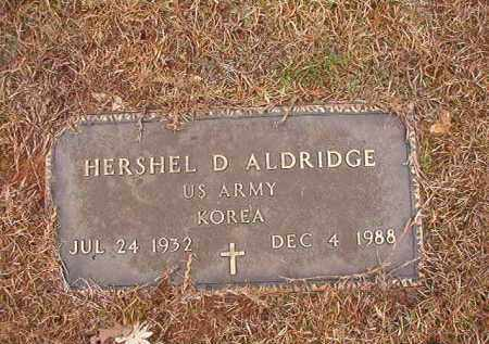 ALDRIDGE (VETERAN KOR), HERSHEL D - Columbia County, Arkansas | HERSHEL D ALDRIDGE (VETERAN KOR) - Arkansas Gravestone Photos