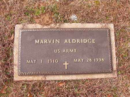 ALDRIDGE (VETERAN), MARVIN - Columbia County, Arkansas | MARVIN ALDRIDGE (VETERAN) - Arkansas Gravestone Photos