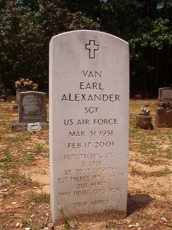 ALEXANDER (VETERAN), VAN EARL - Columbia County, Arkansas | VAN EARL ALEXANDER (VETERAN) - Arkansas Gravestone Photos