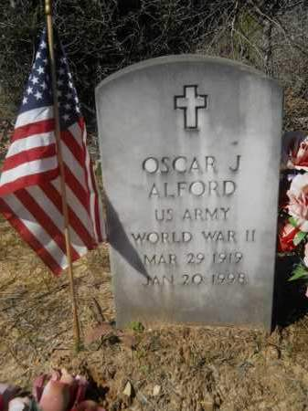 ALFORD (VETERAN WWII), OSCAR J - Columbia County, Arkansas | OSCAR J ALFORD (VETERAN WWII) - Arkansas Gravestone Photos