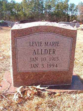 ALLDER, LEVIE MARIE - Columbia County, Arkansas | LEVIE MARIE ALLDER - Arkansas Gravestone Photos