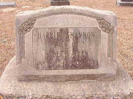 SHANNON ALLEN, HARRIET - Columbia County, Arkansas | HARRIET SHANNON ALLEN - Arkansas Gravestone Photos
