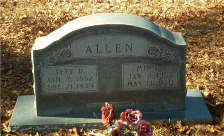 ALLEN, MINNIE - Columbia County, Arkansas | MINNIE ALLEN - Arkansas Gravestone Photos