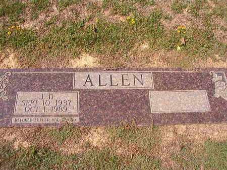 ALLEN, J D - Columbia County, Arkansas | J D ALLEN - Arkansas Gravestone Photos