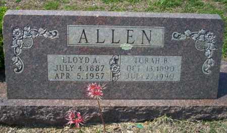 ALLEN, TURAH B - Columbia County, Arkansas | TURAH B ALLEN - Arkansas Gravestone Photos