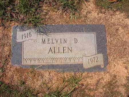 ALLEN, MELVIN D - Columbia County, Arkansas | MELVIN D ALLEN - Arkansas Gravestone Photos