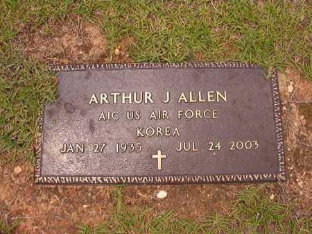 ALLEN (VETERAN KOR), ARTHUR J - Columbia County, Arkansas | ARTHUR J ALLEN (VETERAN KOR) - Arkansas Gravestone Photos