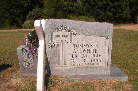 ALLWHITE, TOMMYE K - Columbia County, Arkansas | TOMMYE K ALLWHITE - Arkansas Gravestone Photos