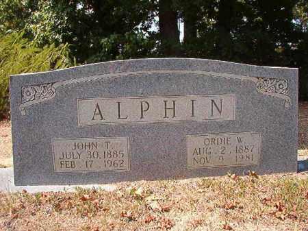 ALPHIN, JOHN T - Columbia County, Arkansas | JOHN T ALPHIN - Arkansas Gravestone Photos