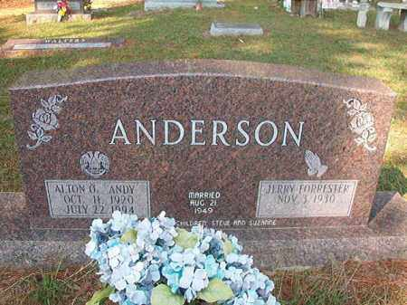 ANDERSON, ALTON O - Columbia County, Arkansas | ALTON O ANDERSON - Arkansas Gravestone Photos