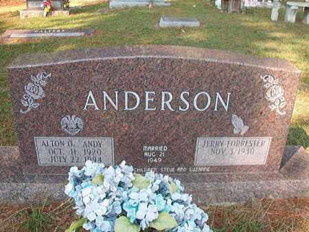 ANDERSON, ALTON O - Columbia County, Arkansas   ALTON O ANDERSON - Arkansas Gravestone Photos