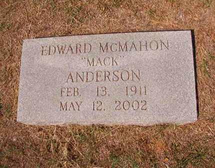 "ANDERSON, EDWARD MCMAHON ""MACK"" - Columbia County, Arkansas   EDWARD MCMAHON ""MACK"" ANDERSON - Arkansas Gravestone Photos"