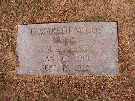 MCCOY ANDERSON, ELIZABETH - Columbia County, Arkansas | ELIZABETH MCCOY ANDERSON - Arkansas Gravestone Photos