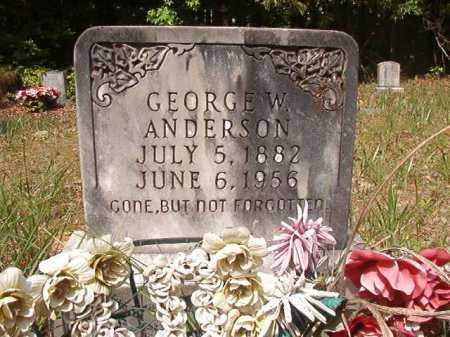 ANDERSON, GEORGE W - Columbia County, Arkansas | GEORGE W ANDERSON - Arkansas Gravestone Photos