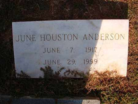 HOUSTON ANDERSON, JUNE - Columbia County, Arkansas | JUNE HOUSTON ANDERSON - Arkansas Gravestone Photos