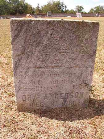 ANDERSON, ORA - Columbia County, Arkansas   ORA ANDERSON - Arkansas Gravestone Photos