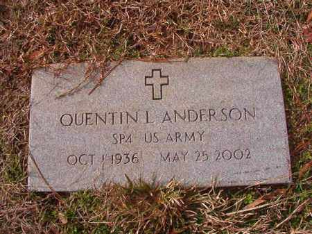 ANDERSON (VETERAN), QUENTIN L - Columbia County, Arkansas | QUENTIN L ANDERSON (VETERAN) - Arkansas Gravestone Photos