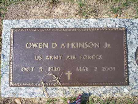 ATKINSON, JR (VETERAN), OWEN D - Columbia County, Arkansas | OWEN D ATKINSON, JR (VETERAN) - Arkansas Gravestone Photos