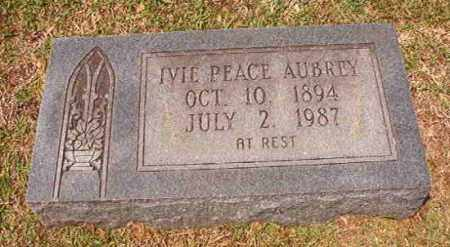 PEACE AUBREY, IVIE - Columbia County, Arkansas | IVIE PEACE AUBREY - Arkansas Gravestone Photos