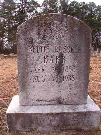 BABB, BETTIE - Columbia County, Arkansas | BETTIE BABB - Arkansas Gravestone Photos