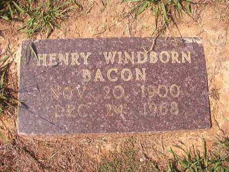 BACON, HENRY WINDBORN - Columbia County, Arkansas | HENRY WINDBORN BACON - Arkansas Gravestone Photos