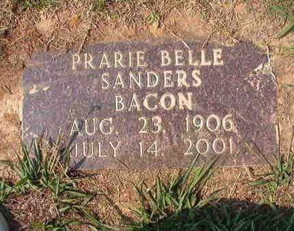 BACON, PRARIE BELLE - Columbia County, Arkansas | PRARIE BELLE BACON - Arkansas Gravestone Photos