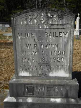 BAILEY OWEN, ALICE L - Columbia County, Arkansas | ALICE L BAILEY OWEN - Arkansas Gravestone Photos