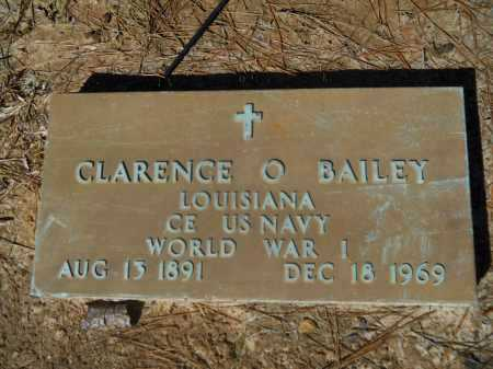 BAILEY  (VETERAN WWI), CLARENCE  O - Columbia County, Arkansas | CLARENCE  O BAILEY  (VETERAN WWI) - Arkansas Gravestone Photos