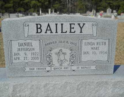 BAILEY, DANIEL JEFFERSON - Columbia County, Arkansas | DANIEL JEFFERSON BAILEY - Arkansas Gravestone Photos