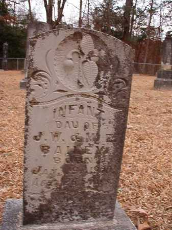 BAILEY, INFANT DAUGHTER - Columbia County, Arkansas | INFANT DAUGHTER BAILEY - Arkansas Gravestone Photos