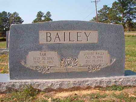 NALLS BAILEY, LOUISE - Columbia County, Arkansas | LOUISE NALLS BAILEY - Arkansas Gravestone Photos