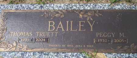 BAILEY, PEGGY M - Columbia County, Arkansas | PEGGY M BAILEY - Arkansas Gravestone Photos