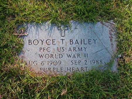 BAILEY (VETERAN WWII), BOYCE T - Columbia County, Arkansas | BOYCE T BAILEY (VETERAN WWII) - Arkansas Gravestone Photos
