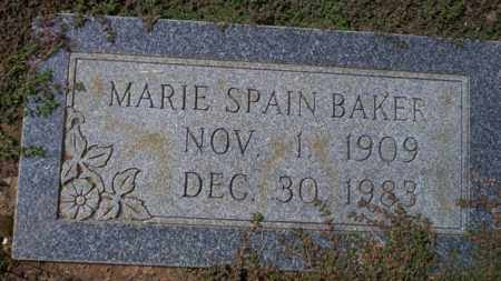 SPAIN BAKER, MARIE - Columbia County, Arkansas | MARIE SPAIN BAKER - Arkansas Gravestone Photos
