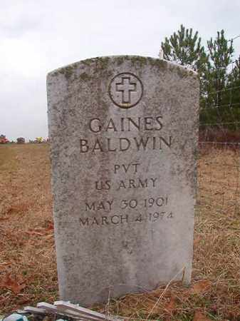 BALDWIN (VETERAN), GAINES - Columbia County, Arkansas | GAINES BALDWIN (VETERAN) - Arkansas Gravestone Photos