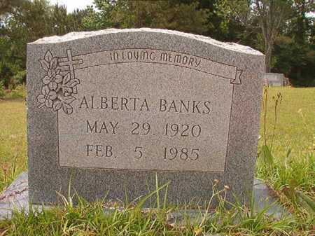 BANKS, ALBERTA - Columbia County, Arkansas | ALBERTA BANKS - Arkansas Gravestone Photos