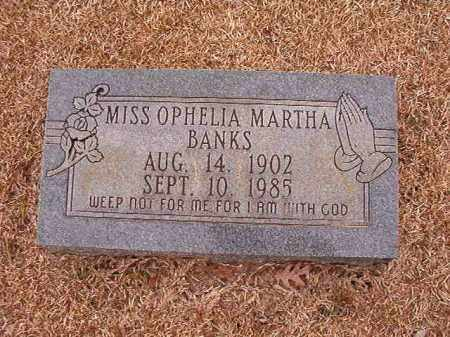 BANKS, OPHELIA MARTHA - Columbia County, Arkansas | OPHELIA MARTHA BANKS - Arkansas Gravestone Photos