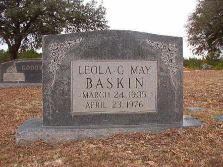 MAY BASKIN, LEOLA G - Columbia County, Arkansas | LEOLA G MAY BASKIN - Arkansas Gravestone Photos