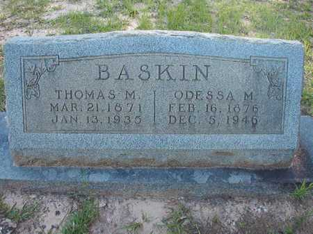 BASKIN, ODESSA M - Columbia County, Arkansas | ODESSA M BASKIN - Arkansas Gravestone Photos