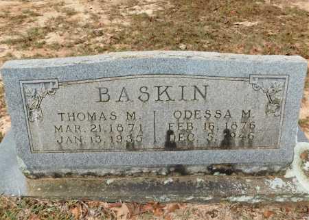 BASKIN, THOMAS M - Columbia County, Arkansas | THOMAS M BASKIN - Arkansas Gravestone Photos