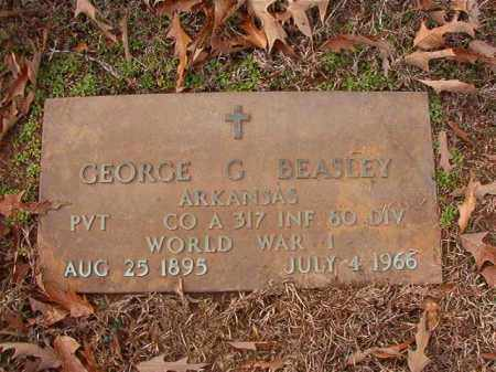 BEASLEY (VETERAN WWI), GEORGE G - Columbia County, Arkansas | GEORGE G BEASLEY (VETERAN WWI) - Arkansas Gravestone Photos