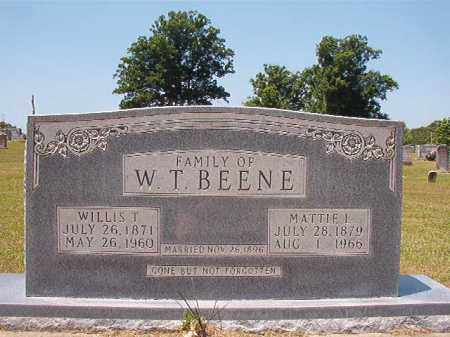 BEENE, WILLIS T - Columbia County, Arkansas | WILLIS T BEENE - Arkansas Gravestone Photos