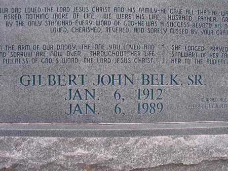 BELK, SR, GILBERT JOHN - Columbia County, Arkansas | GILBERT JOHN BELK, SR - Arkansas Gravestone Photos