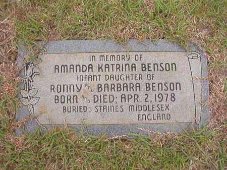 BENSON, AMANDA KATRINA - Columbia County, Arkansas | AMANDA KATRINA BENSON - Arkansas Gravestone Photos