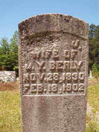 BERLY, SARAH J - Columbia County, Arkansas | SARAH J BERLY - Arkansas Gravestone Photos