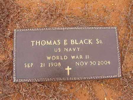 BLACK, SR (VETERAN WWII), THOMAS E - Columbia County, Arkansas | THOMAS E BLACK, SR (VETERAN WWII) - Arkansas Gravestone Photos