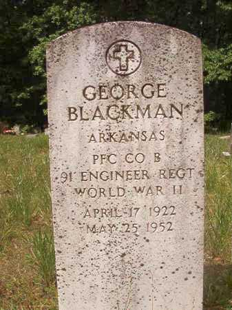 BLACKMAN (VETERAN WWII), GEORGE - Columbia County, Arkansas | GEORGE BLACKMAN (VETERAN WWII) - Arkansas Gravestone Photos